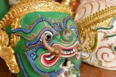 Hua Khon (Thai Traditional Mask) Used in Khon - Thai traditional dance — Stok fotoğraf