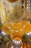 Interior of Hagia Sophia (Ayasofya) museum — Fotografia Stock