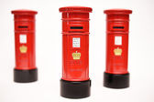 London postbox isolated on white background — Stock Photo