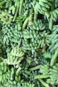 Heap of green banana — Stock Photo