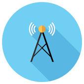 Radio tower icon — Stock Vector