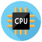Icono de cpu. — Vector de stock