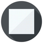 Notebook paper icon — Stock Vector