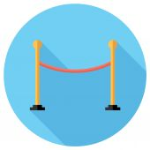 Barrier rope icon — Stock Vector