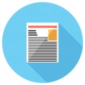 Newspaper icon. — Stock Vector
