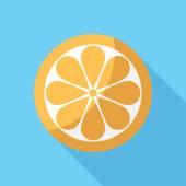 Orange icon. — Stock Vector