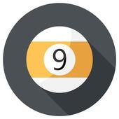 Billiard ball icon — Stock Vector