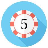Casino token icon — Stock Vector