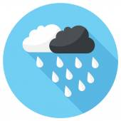 Partly Cloudy with Showers icon — Stock Vector