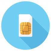Sim card icon. — Stock Vector