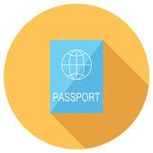 Passport icon — Stock Vector