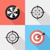 Darts and sight icons. — Stock Vector