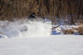 Snowmobile driving  — Stock Photo