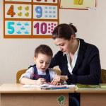 Student and teacher — Stock Photo #69351465