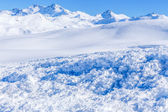 In the foreground trace avalanche. — Stock Photo