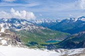 Summer view of the Grand Motte glacier — Stock Photo