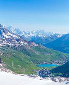 View from the Grande Motte glacier at Tignes — 图库照片