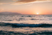 Kaite beach sunset in Kusadasi — Stock Photo