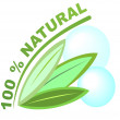 ������, ������: Label 100 percent natural for healthy natural products