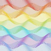 Tile with horizontal rainbow waves — Stock Vector