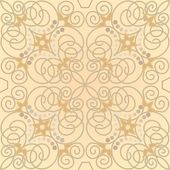Beige ornamental tile in old style — Stock Vector