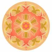 Orange mandala for energy obtaining — Stock Vector