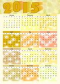 Calendar 2015 in yellow design — ストックベクタ