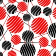 Seamless background with red and black circles — Stock Vector #60857917
