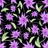 Fondo transparente con flores de color púrpura — Vector de stock