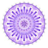 Purple mystery mandala — Stock Vector