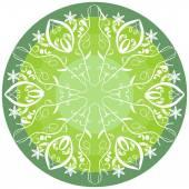 Green mandala for energy and power obtaining — Stock Vector