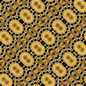 Vintage background tile with diagonal golden patterns — Stock Photo