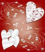 Valentine day background in art deco style — Stock Vector