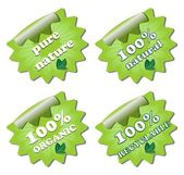 A set of ecology green labels — Stock Vector