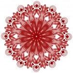 Single symmetric geometric circle ornament in vintage style — Stock Vector #62196275
