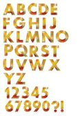 Alphabet set designed in autumn color mosaic  — Stock Vector