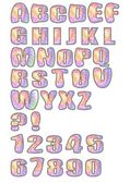 Uppercase alphabet set designed in pastel mosaic — Stock Vector