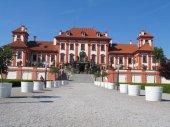 Baroque Troja castle in Prague, Czech republic — Foto Stock