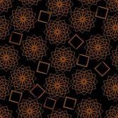 Turuncu yıldız desenleri ile sorunsuz koyu arka plan — Stok Vektör