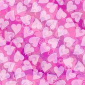 Valentines day romantic heart background in pink — Stock Photo