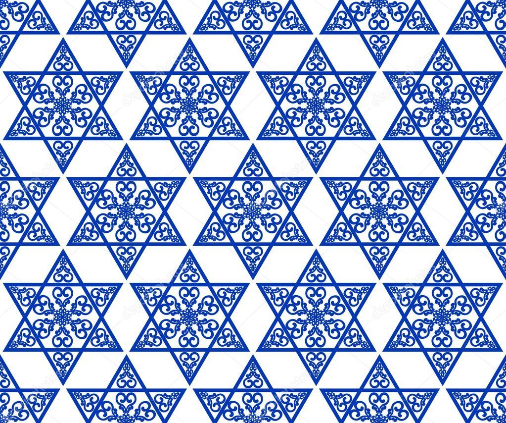 Toile de david d coration carrelage avec ornement - Carrelage motif geometrique ...