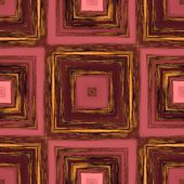 Square patterns on red patinated wood,abstract background tile — Stock Photo