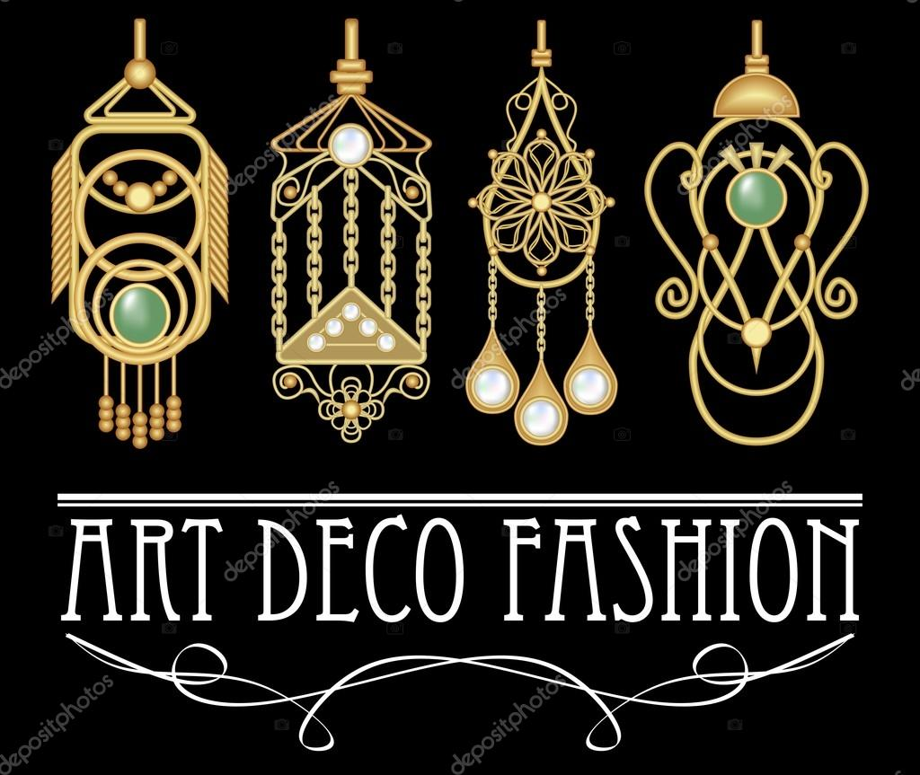 pendientes de oro con perla y la esmeralda en estilo art deco conjunto de joyas antiguas nicas. Black Bedroom Furniture Sets. Home Design Ideas