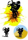 Motocross illustration — Stock Vector