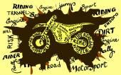 Grunge motocross newspaper — Vector de stock