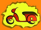 Retro scooter sign — Stock Vector