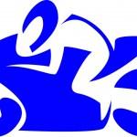 Sportbike racer — Stock Vector #72774473