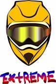 Motorcycle  helmet — Stock Vector