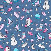 Winter holidays pattern — Stock Vector