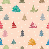 Pattern with Christmas trees — Stock Vector